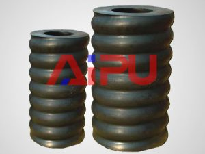 Rubber spring for shale shakers