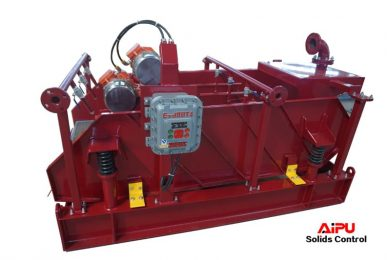 shale shaker with shower nozzle