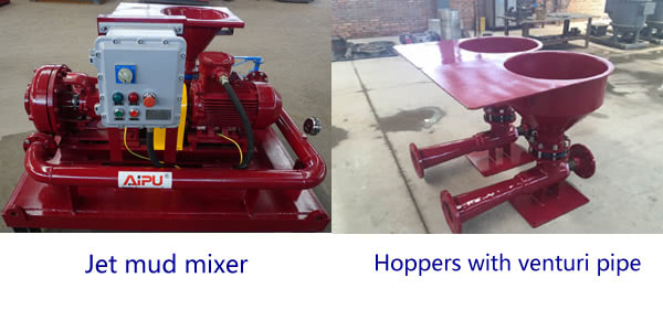 jet mud mixer hoppers with venturi pipe