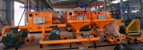mud mixing unit for 7000m drilling