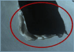 Erosion at casing due to gasket