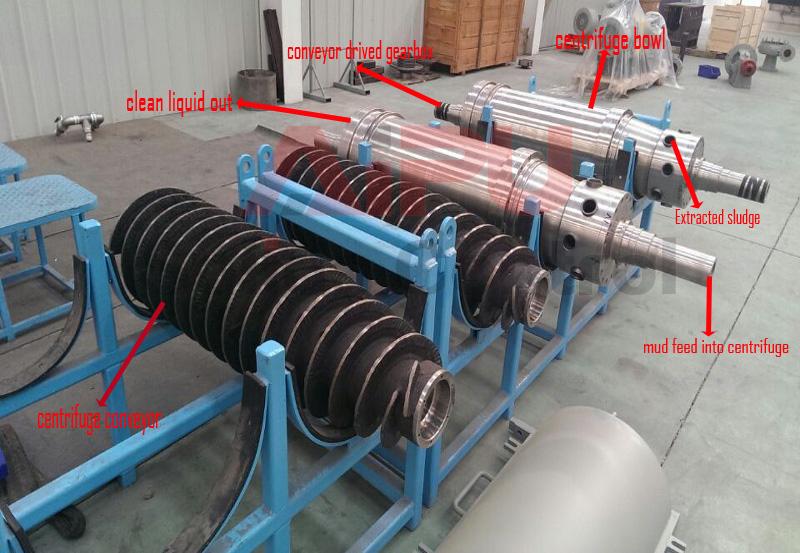 Centrifuge rotafing assembly details