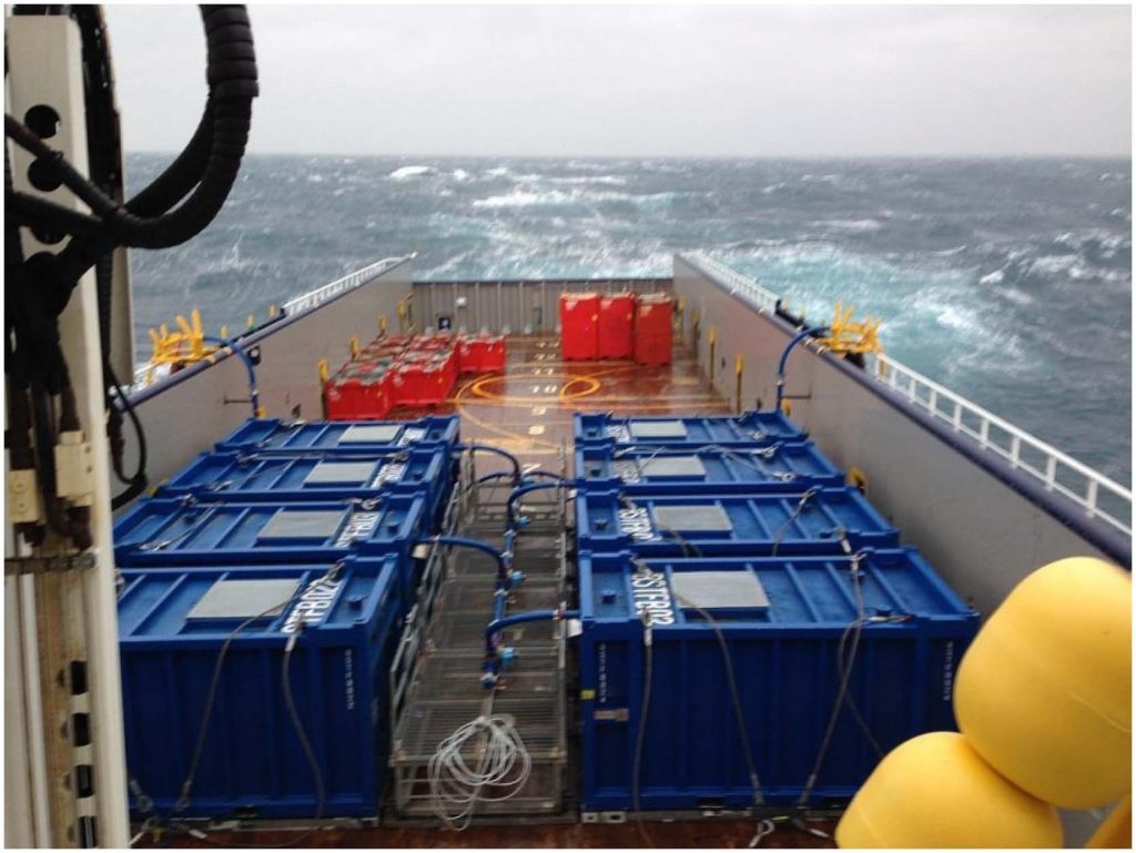 boat setup with onboard vessel tanks for field trial
