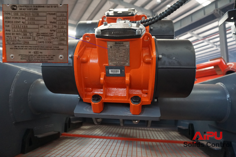 shale shaker motor designation